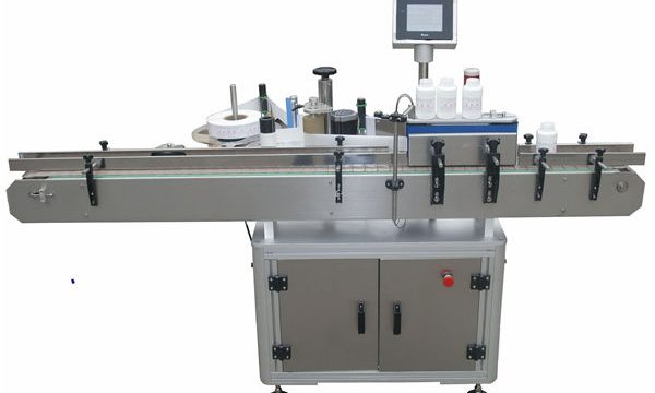 ავტომატური ორმაგი მხარეები Llabeling Mmachine Pet პლასტმასის მინის ბოთლში